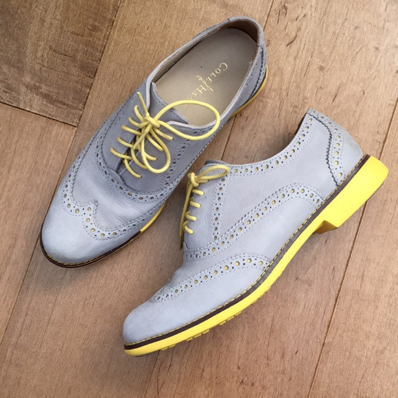 Cole Haan Shoes - Cole Haan Grey Leather Wingtip Oxford